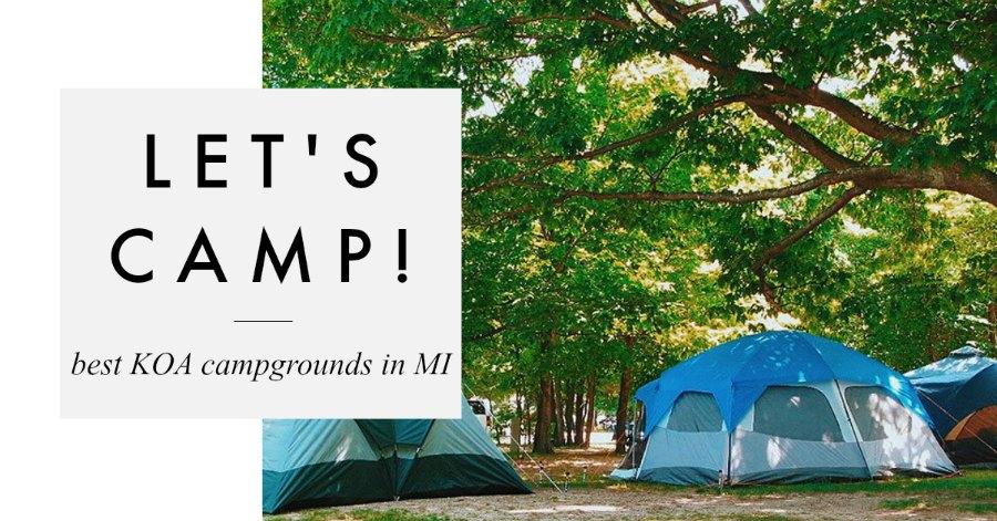 Best KOA Campgrounds in Michigan