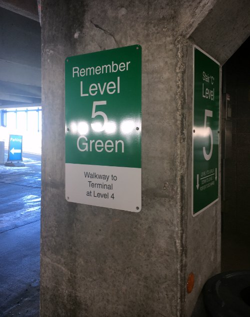 Detroit North Terminal Parking Memory Tip