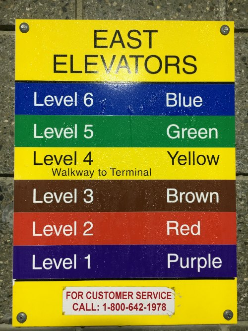 Detroit North Terminal Parking Levels