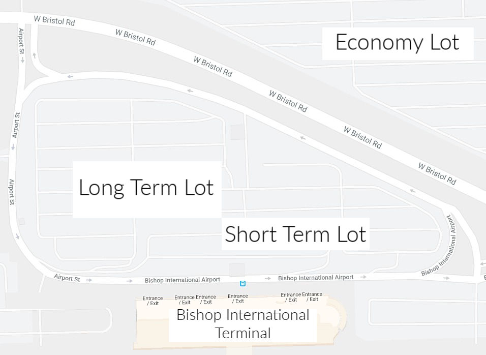 Flint Bishop Airport Parking Map