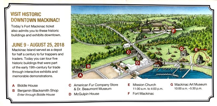Map of Fort Mackinac