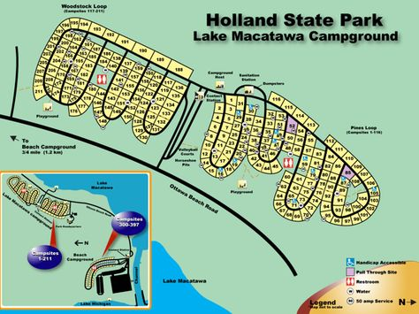 Holland State Park Campground Map