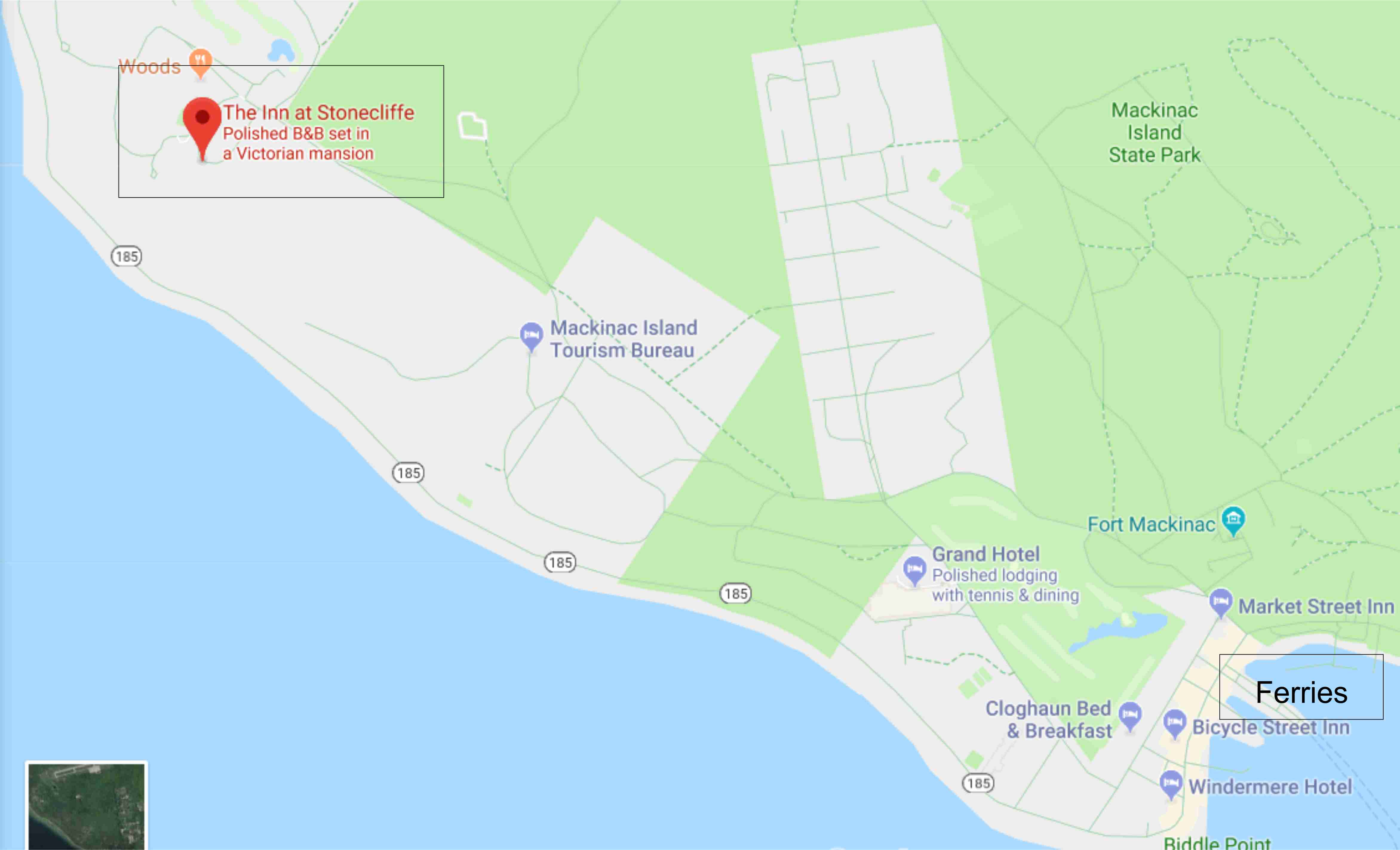 Mackinac Island Hotels Ultimate Map Of All Hotels To Plan Yourvacation