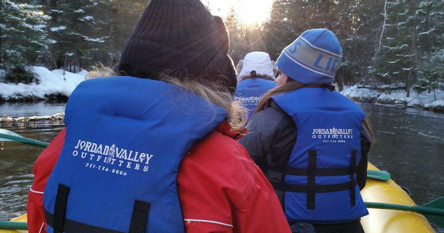 Michigan Winter Rafting-Jordan Valley Outfitters