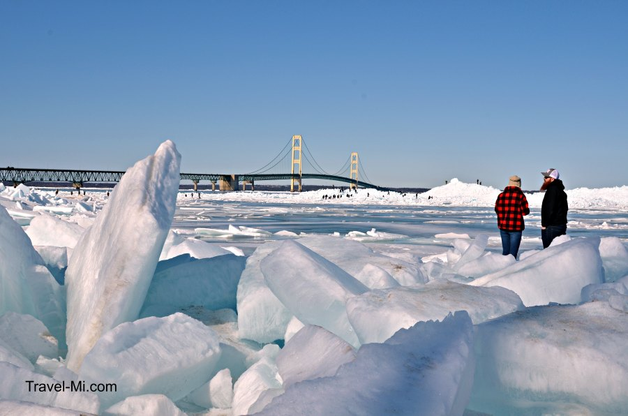 Mackinaw City Blue Ice