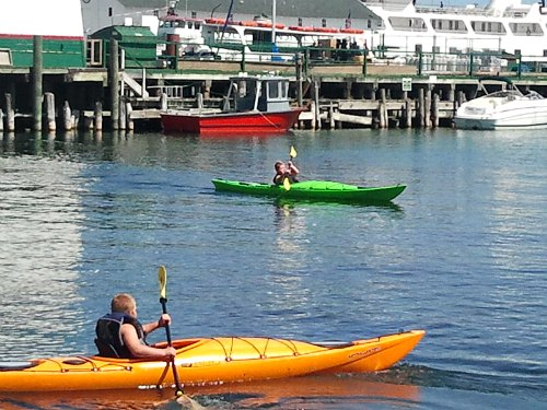 Kayaking Mackinac Island