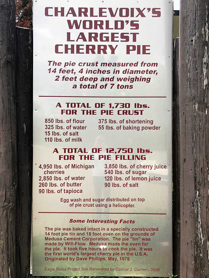 Charlevoix's World's Largest Cherry Pie