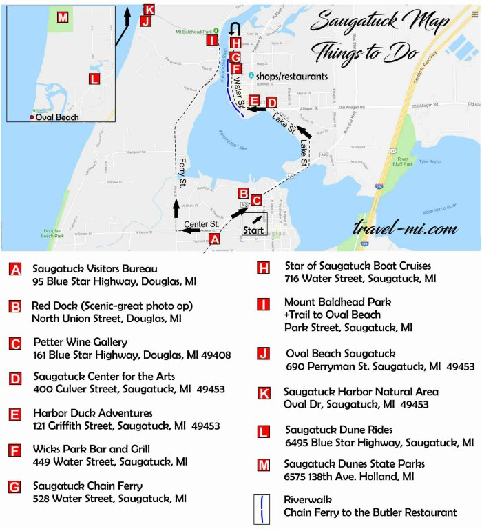 Things To Do In Saugatuck Map