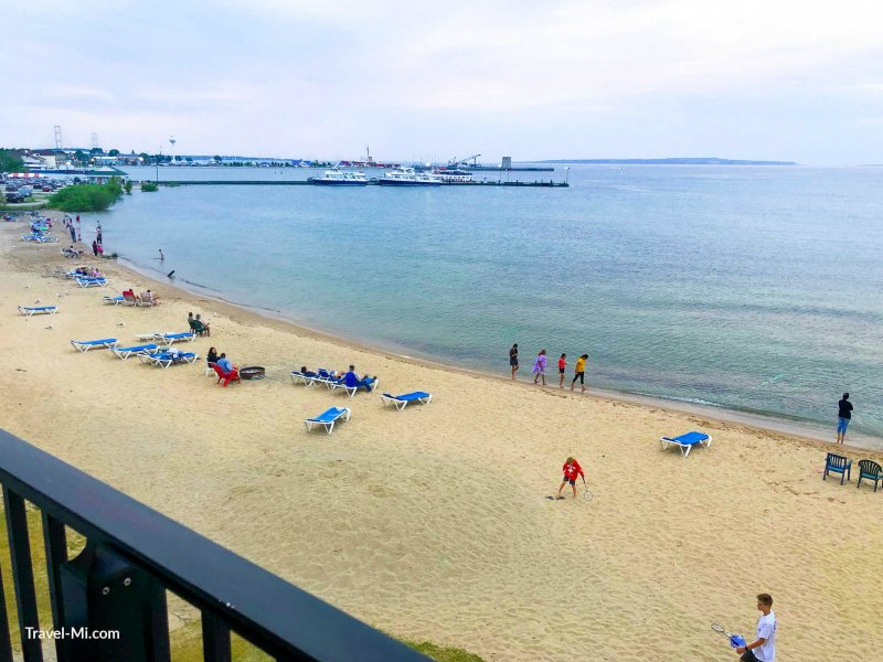 View from the Balcony of the Super 8-Mackinaw City Hotels