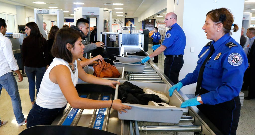 TSA Detroit Airport Checkpoint