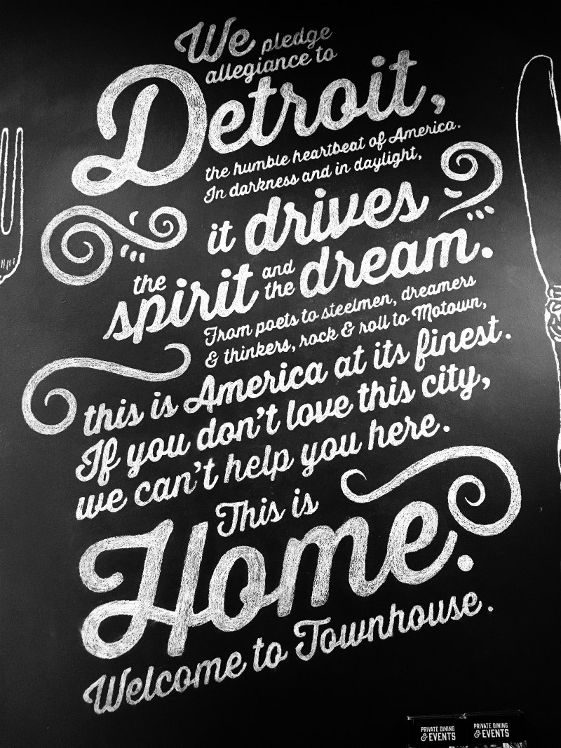 Townhouse Restaurant Sign, Detroit