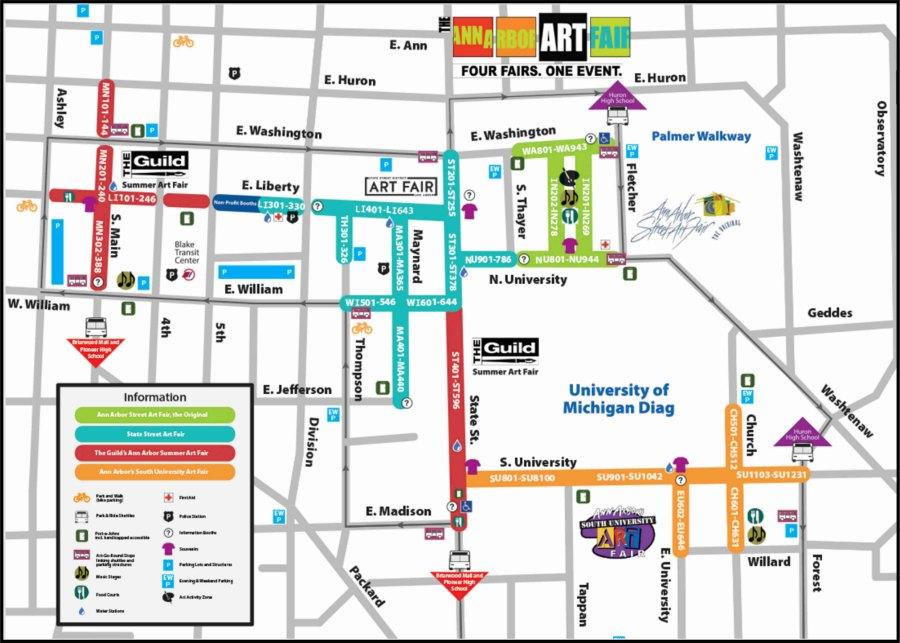 Ann Arbor Art Fair Map