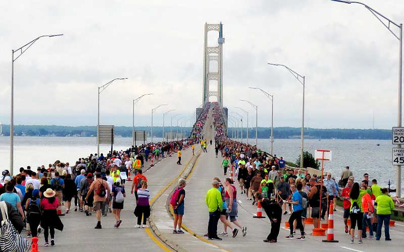 Labor Day Mackinac Bridge Walk. Photo Source: Mightymac.org