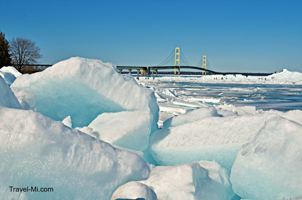 Mackinac City Blue Ice