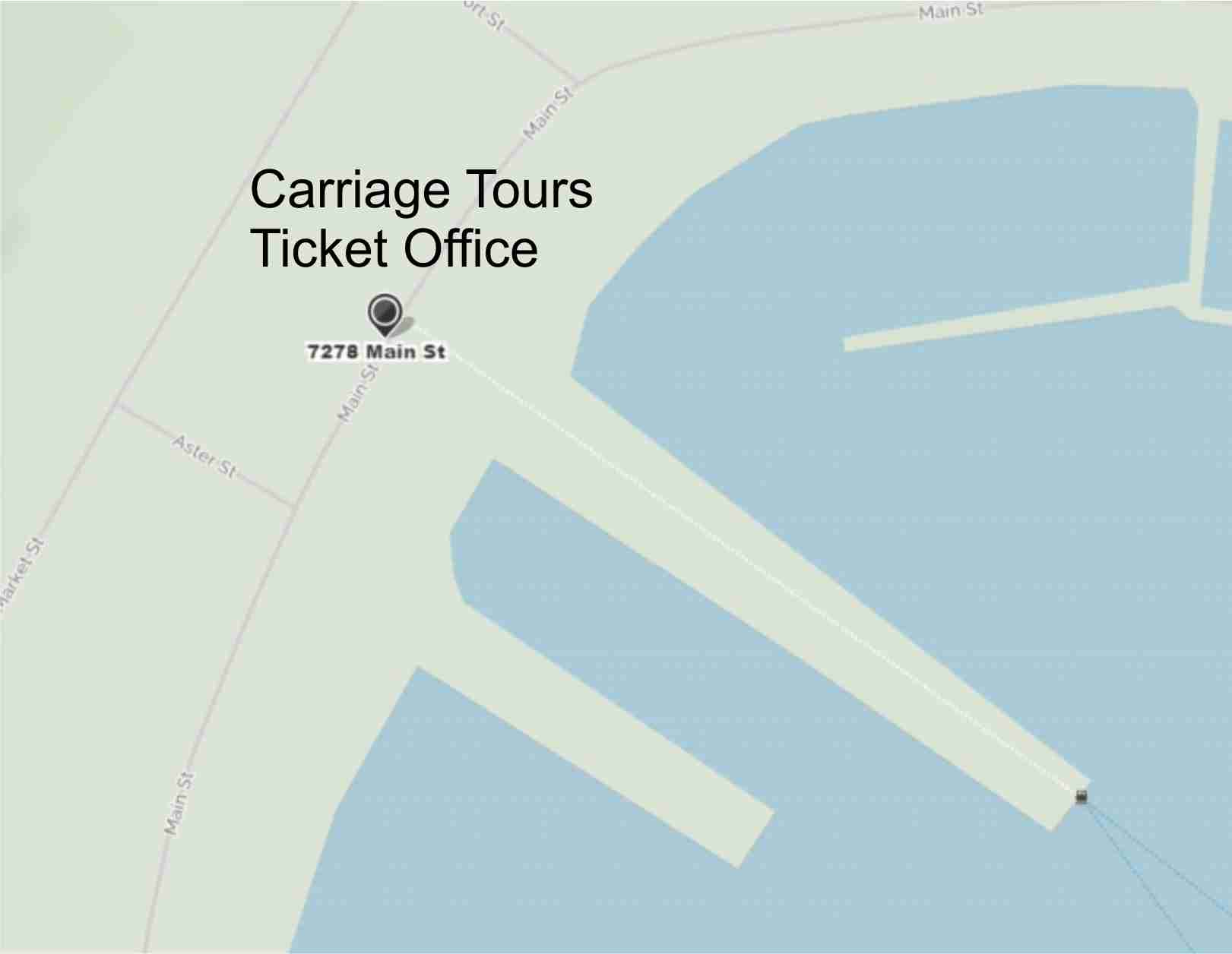 Mackinac Island Carriage Tours Ticket Office Map