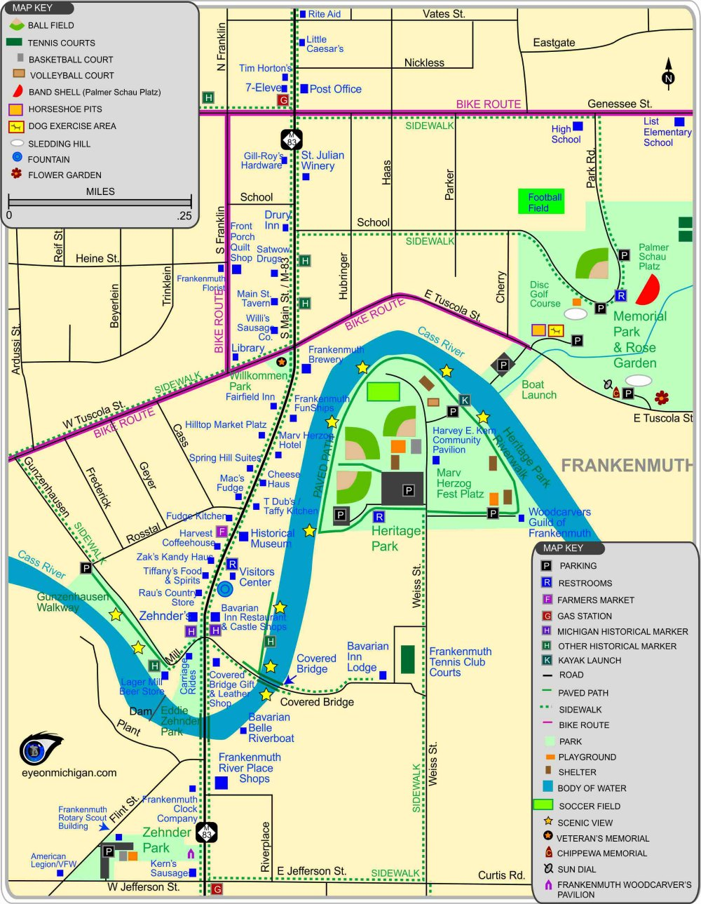 Frankenmuth Map