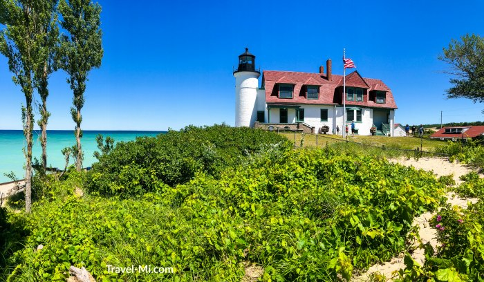 Point Betsie Lighthouse, Michigan By Travel-Mi.com